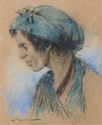 marocaine au foulard bleu by abascal