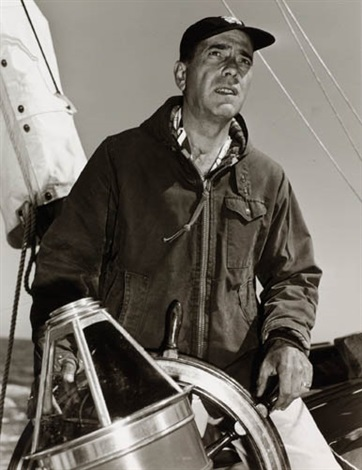 humphrey bogart on his yacht by sid avery