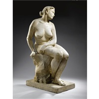 a seated nude by costi