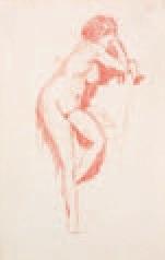 nus (11 studies on 6 sheets) by charles paul renouard