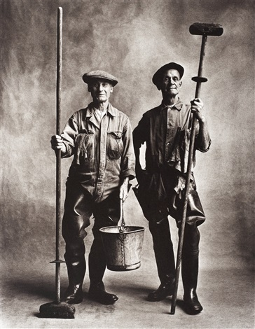 lorry washers london by irving penn