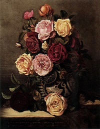 still life of roses by charles e. baskett