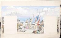 carton pour la décoration du pavillon du comité français des expositions de 1937 by joseph-marius avy