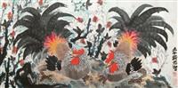 雄鸡 by mei zhongzhi
