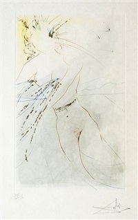 thou art fair, my love, and thy breasts… by salvador dalí
