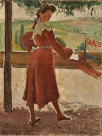 femme au hamac by jean puy