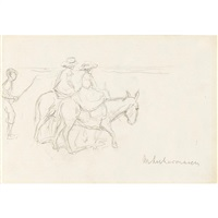 women on horseback by max liebermann
