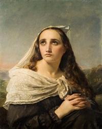 jeune femme en prière by françois joseph navez
