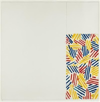 untitled #4 (after `untitled 1975'), from 6 lithographs (after `untitled 1975') by jasper johns