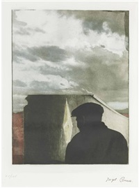 untitled (landscape with figure) (from prints for phoenix house) by joseph cornell