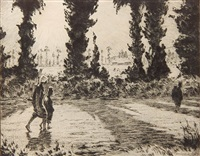 shadows on the road (mccarron 48) by martin lewis