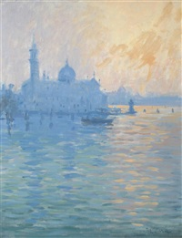 san giorgio evening light by john miller