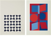 cephei-s; kalota-s (2 works) by victor vasarely
