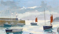 st. ives harbour by eric ward
