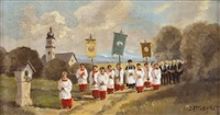 sommerliche prozession by wilhelm von battlehner