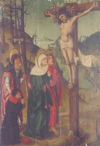 the crucifixion by master of the chudenice altarpiece