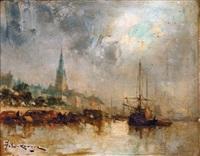 bateaux à quai by jean etienne karnec