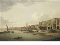the adelphi on the thames embankment by samuel scott