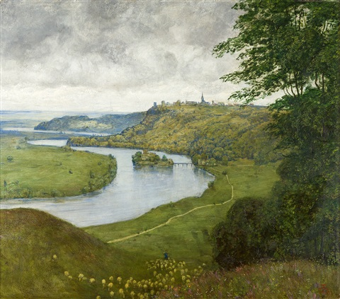 phantasielandschaft landschaft am oberrhein by hans thoma