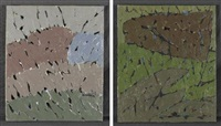 composition abstraite (2 works) by dikran daderian