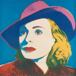 ingrid bergman three portraits of ingrid bergman by andy warhol