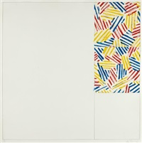 untitled #5 (after `untitled 1975'), from 6 lithographs (after 'untitled 1975') by jasper johns