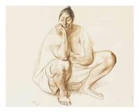 seated woman (mujer asentada) by francisco zúñiga