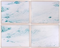 vedretta presena i (quadriptych) (4 works) by walter niedermayr