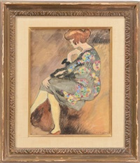femme assise by louis valtat