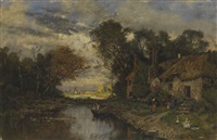 idyll am kanal by karl heffner