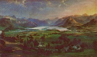 cumbria, der wentwater looking toward the jaws of borrowdale by warner gyselman