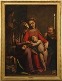 la vierge à l'enfant avec sainte anne, saint joseph et saint jean-baptiste by sofonisba anguissola