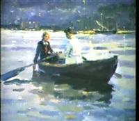 promenade en barque by yuri konovalov