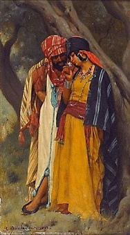 couple d'orientaux by gustave clarence rodolphe boulanger