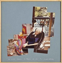 my mother sleeping, los angeles, dec. 1982 by david hockney