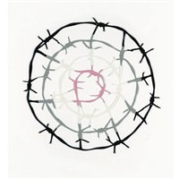 barbed wire target 14 by simon perriton