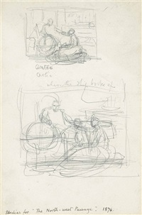 studies for north west passage by sir john everett millais