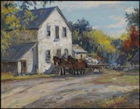 horse drawn wagon by manly edward macdonald