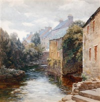 a river view, glenties, co. donegal by mary georgina barton
