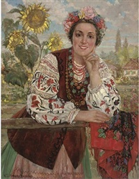 ukrainian peasant girl by ekaterina kachura-falileeva