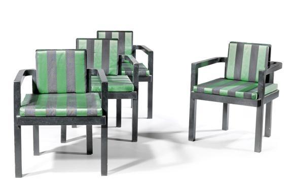 fauteuils pour lentrée de la faguswerks set of 4 by walter gropius