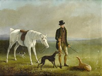 coursing scenes (set of 4) by william barraud