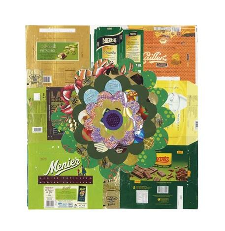 aubergine iii green by beatriz milhazes