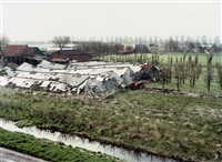 hollandse taferelen -- dutch tableaux (book w/41 works, oblong quarto, 1st edition)(+ collapsed glass house in hobrede, chromogenic print; 42 works) by hans aarsman