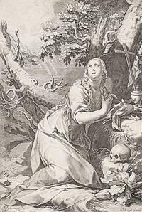 magdalena, pl.4 (from die sünder des alten und neuen testaments) by willem isaaksz swanenburgh the elder