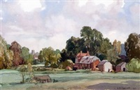 old mill new alresford, lincs by leonard russel squirrell