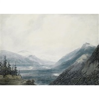 pays de valais near the lake of geneva by john robert cozens