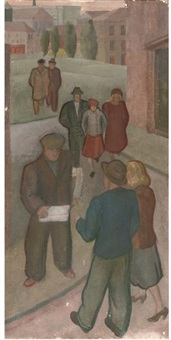 the newspaper seller, dundee by maisie eadie