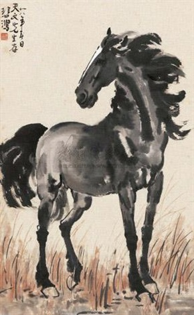 立马 horse by xu beihong