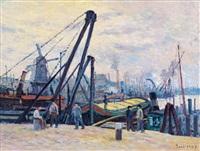 le port d'amsterdam by maximilien luce